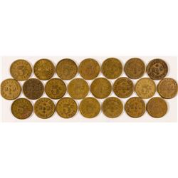 M & M Billiard Hall Tokens  (89013)