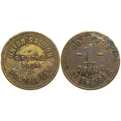 Union Saloon Token  (90333)