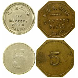 Moffett Field NCO Club Tokens  (101660)