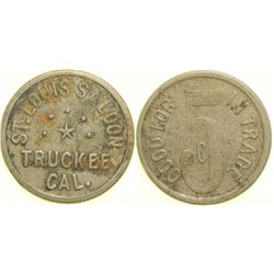 St. Louis Saloon Token  (90365)