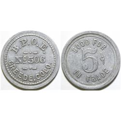 Elks Club Token  (101889)