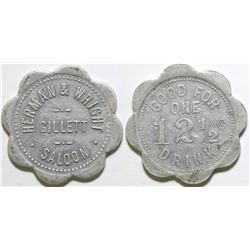 Herman & Wright Saloon Token  (101898)