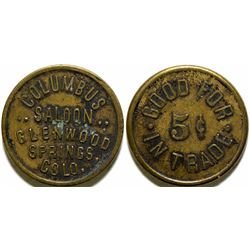 Columbus Saloon Token  (101900)