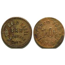 Gold Label Bar Token  (101917)