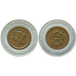Encased Large Cent  (90321)