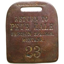 Return To Pete Hale Brass Tag  (100502)