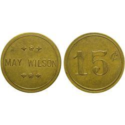 May Wilson Brothel Token  (101813)