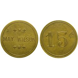 May Wilson Brothel Token  (101813)