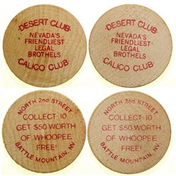Calico Club / Desert Club Brothel Tokens  (101815)