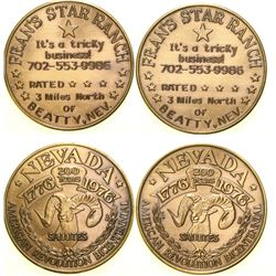 Fran's Star Ranch Brothel Token  (101818)