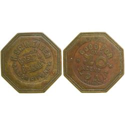 H. Schneider/Boston Bakery Token  (89043)