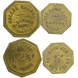 Corner Saloon/ Bank Club Tokens  (90388)