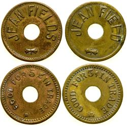 Jean Field Brothel Tokens (2)  (101828)
