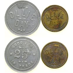 Ollie Day Brothel Tokens (2)  (101822)