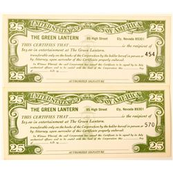 Green Lantern Entertainment Coupons  (101989)