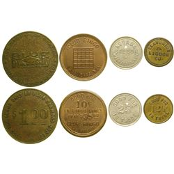 Four Nevada Tokens  (89033)