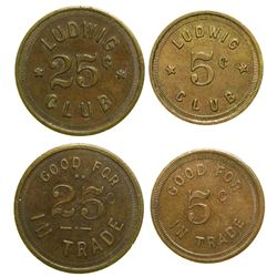 Two Ludwig Club Tokens  (89048)