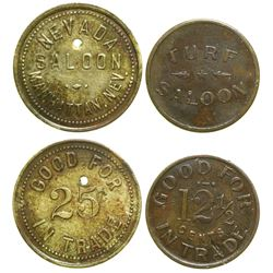 Two Saloon Tokens  (89053)