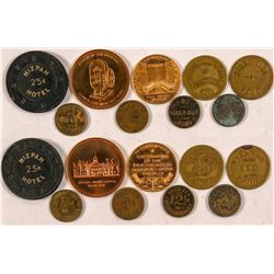 Nine Nevada Tokens  (101214)