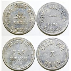 China Mint Club Brothel Tokens (2)  (101844)