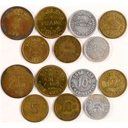 Seven Nevada Tokens  (100542)