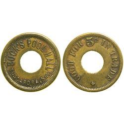 Buck's Pool Hall Token  (90396)