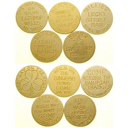 Five Commemorative Brothel Tokens  (101817)