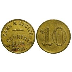 Kane & Rector Country Club Token  (90399)