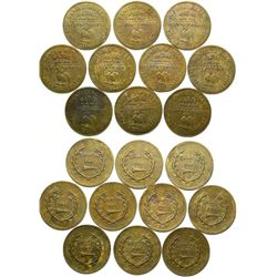 Daniel Sully Brothel Tokens (10)  (101855)