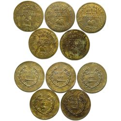 Daniel Sully Brothel Tokens (5)  (101854)