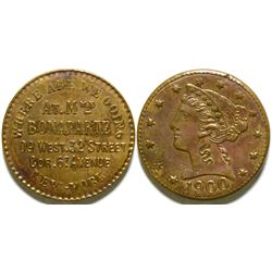 Madame Bonaparte Brothel Token  (101849)