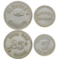 Blondie's Cabaret Tokens (2)  (101982)
