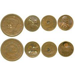 Counterstruck US coins (4)  (101975)