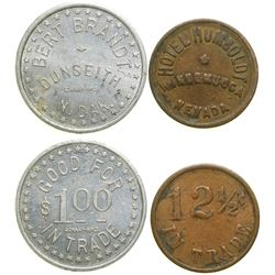 Two Western Tokens  (100387)