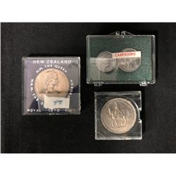 WORLD COIN LOT (NEW ZEALAND/ CAMEROONS...)