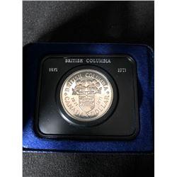 Canada 1871 - 1971 Canadian $1 Nickel Dollar British Columbia Centennial Coin