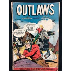 OUTLAWS WESTERN THRILLS STORIES #1 COMIC BOOK