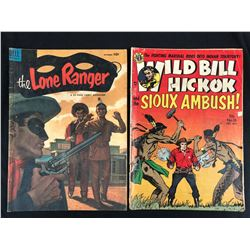 VINTAGE COMIC BOOK LOT (THE LONE RANGER/ WILD BILL HICKOK)