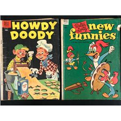 VINTAGE DELL COMIC BOOK LOT (HOWDY DOODY/ NEW FUNNIES)