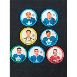 1961-62 SALADA FOODS / SHIRRIFF PLASTIC HOCKEY COIN LOT