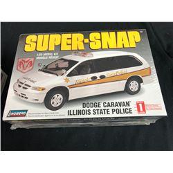 SUPER SNAP 1:25 SCALE DODGE CARAVAN ILLINOIS STATE POLICE MODEL KIT