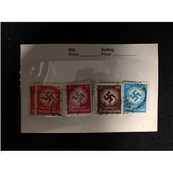 GERMANY REICH WW2 RARE NAZI OFFICIAL SWASTIKA PARTY SONDERSTEMPEL SERVICE STAMPS