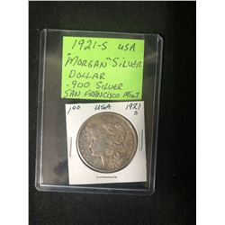 1921-S MORGAN SILVER DOLLAR (.900 SILVER) -SAN FRANCISCO MINT-