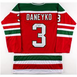 "Ken Daneyko Signed Throwback 80's Rookie Era Devils Jersey Inscribed ""Mr. Devil"" (JSA COA)"
