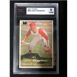 1957 TOPPS #222 ALEX GRAMMAS (8 NMM)