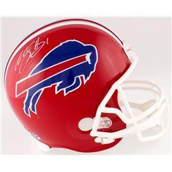 Willis McGahee Signed Bills Full-Size Helmet (DA COA)