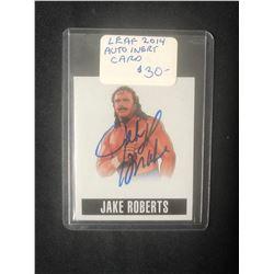 2014 LEAF AUTO INSERT CARD JAKE ROBERTS