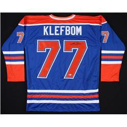 Oscar Klefbom Signed Oilers Jersey (Beckett Hologram) *Framing Jersey*