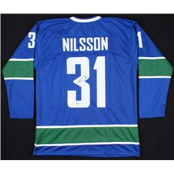 Anders Nilsson Signed Canucks Jersey (Beckett COA) *Framing Jersey*