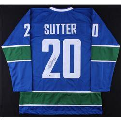 Brandon Sutter Signed Canucks Jersey (Beckett COA) *Framing Jersey*